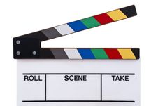 Free Color Clapperboard Front Stock Images - 21222824