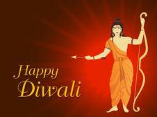 Free Vector God Rama Theme Wallpaper For Deepawali Royalty Free Stock Photos - 21223208