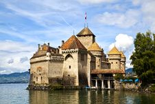 Chateau De Chillon, Switzerland Stock Photos