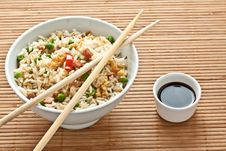 Free Canton Chinese Rice Royalty Free Stock Image - 21223966