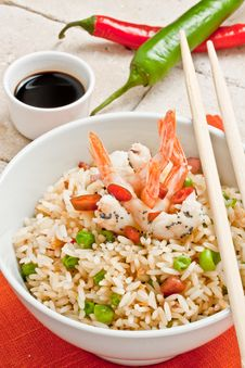 Free Canton Chinese Rice Royalty Free Stock Photo - 21223995