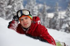 Free Image Of Young Snowboarder Stock Image - 21224191