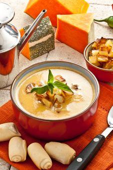 Free Pumpkin Soup Stock Images - 21224414