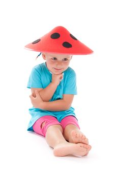 Free Child In A Funny Hat On His Head Stock Images - 21224574