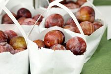 Free Bags Of Plums Stock Photography - 21224892