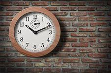 Free Clock On  Wall. Stock Photo - 21224960