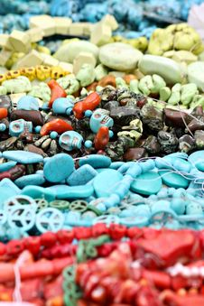 Free Colorful Bead Necklaces Royalty Free Stock Image - 21225266