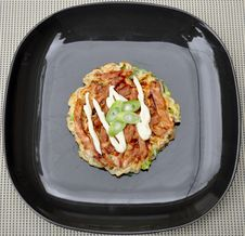 Free Japanese Food Okonomiyaki Royalty Free Stock Photos - 21225958