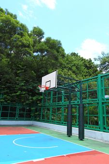 Free Basketball Court In Abstract View Royalty Free Stock Photography - 21226777