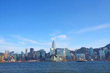 Free Hong Kong Skyline At Day Royalty Free Stock Image - 21226796