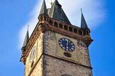 Tower In Prague Royalty Free Stock Photo