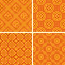 Free Set Seamless Decorative Pattern Royalty Free Stock Photos - 21227398