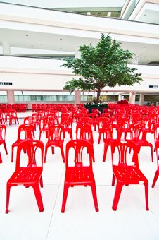 Free Red Empty Chairs Royalty Free Stock Image - 21227486