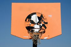 Free Orange And Grunge Basketball Backboard Stock Images - 21227754