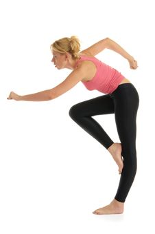 Free Woman Standing Makes Exercise Stock Photography - 21228052
