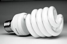 Free Energy Saving Light Bulb Royalty Free Stock Photography - 21228647