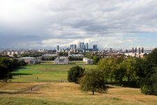 Free A View Of London Docklands From Greenwich Stock Photography - 21228822