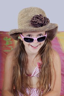 Girl In Summery Outfit Stock Photo