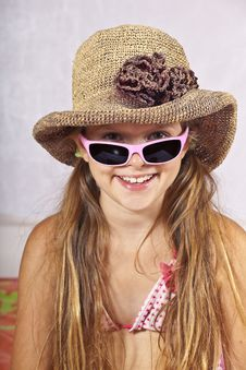 Girl In Summery Outfit Royalty Free Stock Image