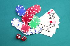 Free Gambling Royalty Free Stock Images - 21229189