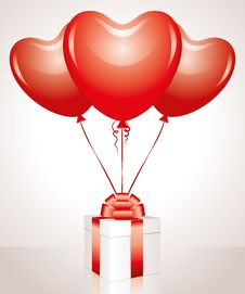 Free Gift And Balloons Stock Photos - 21229633