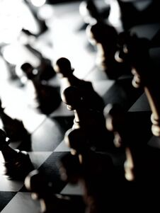 Free Business Game Competitive Strategy With Chess Board Game With Blur Background Stock Photography - 212227332