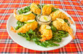 Free Fried Shrimp With Lime Sauce Stock Photos - 21232503