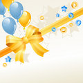 Free Festive Greeting Card With Balloons Royalty Free Stock Image - 21235456
