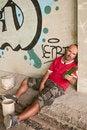 Free Drunk Man In Urban Scene. Stock Photo - 21236630