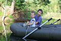 Free Little Boys Boating Stock Photo - 21237160
