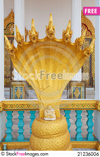 Free Gold Serpent King Royalty Free Stock Image - 21236006