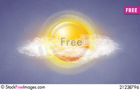 Free Icon Sun With Clouds Royalty Free Stock Image - 21238796