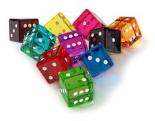 Free Colored Dices Stock Photography - 21230042