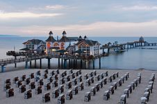 Free Pier Sellin At Dusk Light Royalty Free Stock Images - 21231049