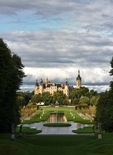 Castle Schwerin With Copy Space