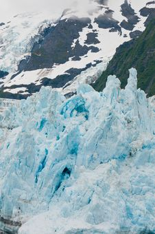 Closeup Of Surprise Glacier Royalty Free Stock Image