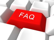 Free Red Faq Button On White Keyboard Royalty Free Stock Images - 21231319