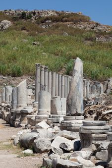 Free Ancient Ruins Perge Turkey Stock Images - 21231324