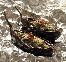 Free Baked Aubergines Stock Photography - 21231682