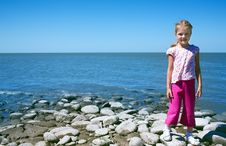 Free Child At The Sea Royalty Free Stock Image - 21232096