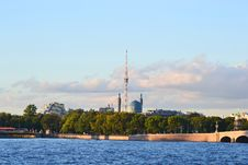 Free View Of The St.Petersburg. Tower And Mosque. Royalty Free Stock Photography - 21232947