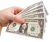 Free Dollar In Hand Stock Photo - 21234590
