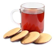 Sweet Cookie And Tea Royalty Free Stock Photo