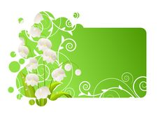 Beautiful Frame With Lily Of The Valley