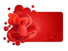 Free Beautiful Red Frame With Rose Royalty Free Stock Photography - 21235507