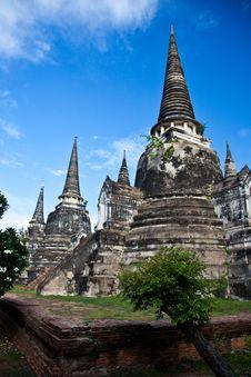 Wat Phra Sri Sanphet Of  Ayutthaya Royalty Free Stock Images