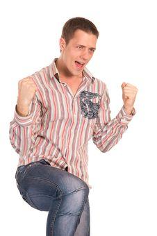 Free Guy On White Stock Image - 21236011