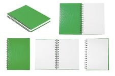 Free Green Notebook Collection Royalty Free Stock Photography - 21236087
