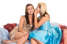 Free Girls At Sofa Royalty Free Stock Image - 21236136