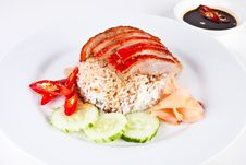 Free Roasted Duck With Rice Royalty Free Stock Image - 21236166